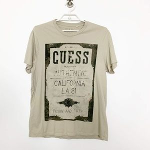 GUESS Down & Dirty Graphic Short Sleeve Tee #2749